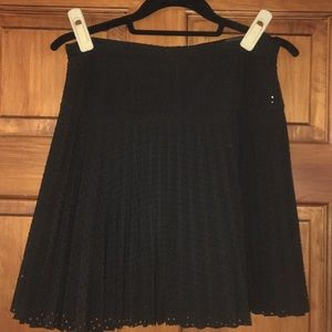 J. Crew Perforated Pleated A-Line Skirt
